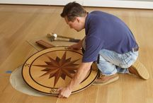 Installation of floor medallions, inlays and compass rose / Installation of flooring accents