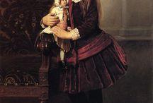 quadri bambine con bambole