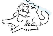 коты рисунки Саймона
