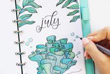 bullet journal ötletek