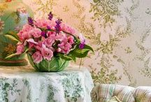 Anything Toile / Toile fabrics, toile furniture, quilts...anything with the beautiful scenes including transfer ware in different colors.