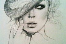 Faces in art / Art  / by Sweilla Johnson