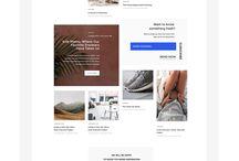 Webdesign. Irregular grid.