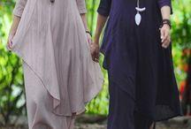 Half sleeve linen dress