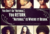 Au Naturale ✊ / Embracing the coils and kinks of natural hair.  / by Armani Abba