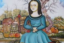 Mona Lisa's / Different images of a painting / by Margaret Khairallah