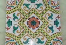 BALDOSAS DECORADAS / Baldosas decoradas 20 x 20 colores diferentes.