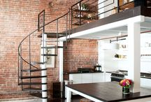 handrail/spiral staircase options