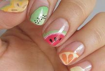 Nail Art de fruits d'été