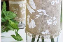 burlap vases / by burlap projects