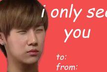 ❤️❤️K-pop Valentine  cards❤️❤️