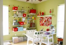 DIY organizing {craft room} / I want to make a little craft room/space and store my crafting supplies in a more effective way... so these are some of the products and ideas to create my dream space! / by Mel the Crafty Scientist