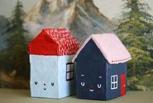 <Casitas> / Mi obsesión por las casitas de papel, porcelana, madera, tela, ceramica...etc :)