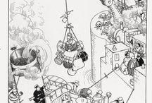 WILLIAM HEATH ROBINSON / I love his way of illustrate