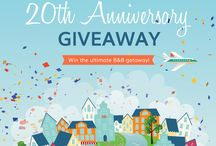20th Anniversary Giveaway / Thank you for helping us spread the B&B love for 20 years! / by BedandBreakfast.com