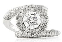 Round Diamond Engagement Rings / Round diamonds- loved for their brilliant shine and timeless elegance. Collection of Custom made round Diamond engagement rings by Lauren B Jewelry