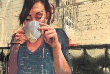 Street art coffee