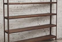 muebles de hierro y madera vintage
