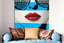 Bright Art - Ideas and Inspiration / How to bring bright pops of colour into your space.