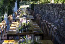 Al fresco Dinner Party / A beautiful outdoor dinner party! The evening came together seamlessly thanks to Exquisite Events, New England Country Rentals, and Rentals Unlimited!
