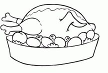 Foods and meals coloring page / Lots of foods coloring pages for kids,free coloring page for kids,foods pictures to print and color