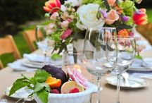 a tavola in giardino