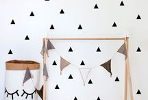 Geometrical Wall Decals  by Vinyl Design / Geometric wall décor to transform a boring blank wall into a stunning feature wall. Our pattern wall decals look like wallpaper but are so much easier to apply and to remove!
