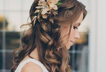Bride hairdressing
