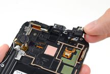 Utskifting av Samsung Galaxy Note 2 hodetelefonkontakt / øretelefonhøyttaler