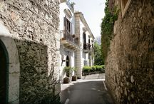 Indoors, Hotel Villa Taormina / roof terrace with fantastic view on the sea and hills