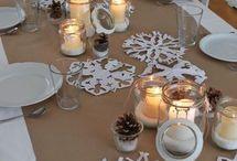 idee per decorare il tavolo di Natale
