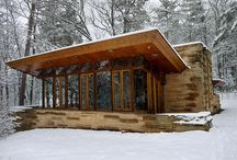 Glass-walled cabins