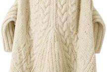 cabled cardigan coat