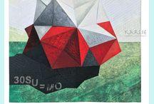 Art Series - Origami / MIXED MEDIA ART + ART SERIES ORIGAMI - textiles art | thread, fabric, origami, plastic, acrylic paint, paper, three-dimensional