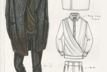 man fashion sketch