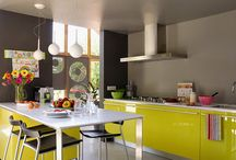 Colourful Kitchens / Unexpected colour in kitchens