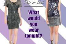 This or That / ¿Qué te pondrías esta noche? What would you wear tonight?  Elige tu look en / choose your look at www.custo.com