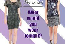 This or That / ¿Qué te pondrías esta noche? What would you wear tonight?  Elige tu look en / choose your look at www.custo.com / by Custo Barcelona