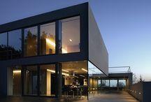 dark exterior houses
