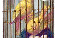 Vintage Images - Birds, Eggs, Cages, & Nests