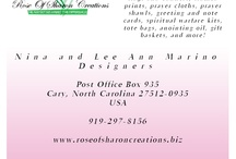 Rose of Sharon Creations / Company featuring Kingdom-themed specialty items for the believer, including prayer shawls, flyers, posters, handkerchiefs, Bible and book covers, handmade bookmarks, little things to hang on your wall, framed prints, lap scarves, and more!  www.roseofsharoncreations.biz