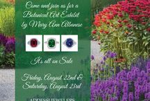 Ridgefield Art Walk / A collection of stunning gemstones in botanical colors. Inspired by the watercolors in Mary Ann Albanese's Botanical Art Exhibit, in our store August 22nd and 23rd.