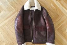 leather, shearling, ...