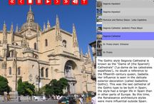 Segovia Cathedral & Aqueduct - Spain - MuseumPlanet.com / Cathedral and Aqueduct can be toured on Museum Planet's iPad app. / by Museum Planet