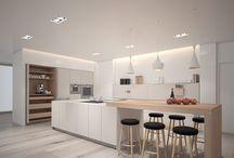Fint kjøkken + gulv.