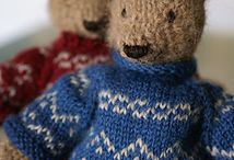 Cute knitted dolls / Bears, rabbits and dolls knitted made!