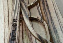 Zebrawood/Zebrano / Pictures of the Móler glasses with zebrawood.   Tablero para algunas de nuestras imágenes de gafas con madera de zebrano.