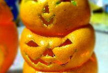 Carved oranges for halloween / how to carve orange for halloween