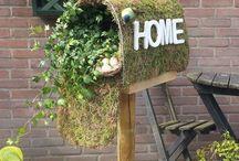 creatief met hooi en mos