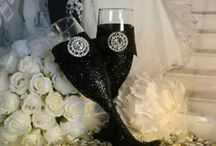 diy champagne glasses